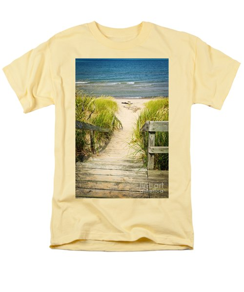 Wooden stairs over dunes at beach T-Shirt by Elena Elisseeva