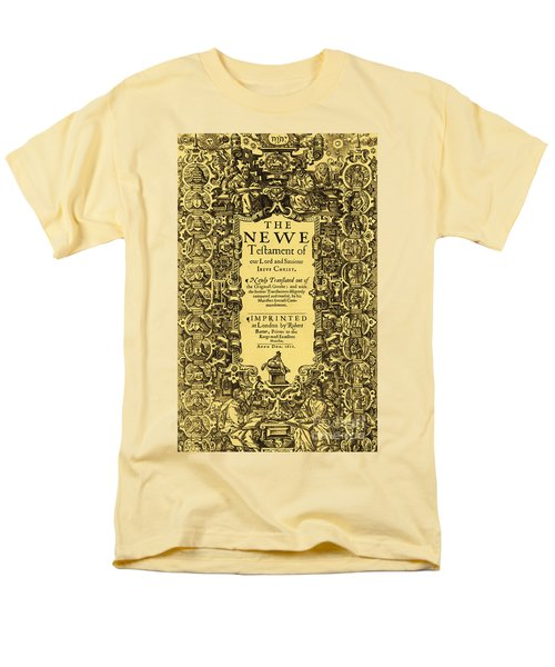 New Testament, King James Bible T-Shirt by Photo Researchers