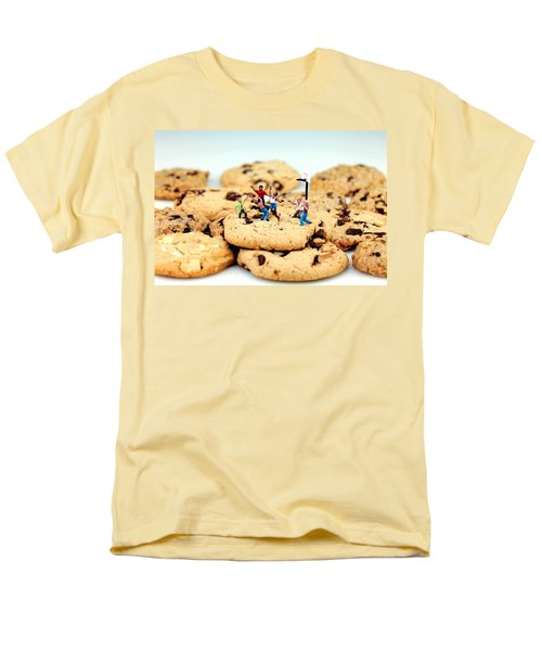 Playing basketball on cookies T-Shirt by Paul Ge