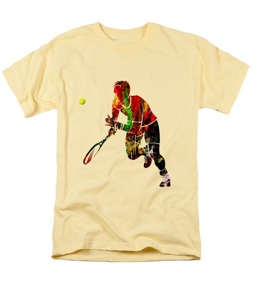 Mens Tennis Collection Men's T-Shirt  (Regular Fit) by Marvin Blaine
