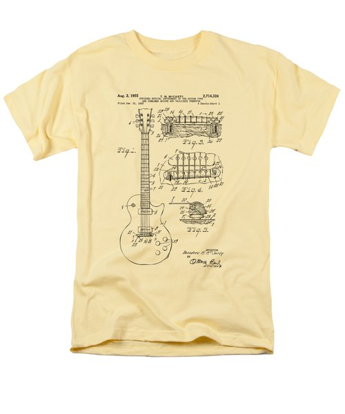 1955 Mccarty Gibson Les Paul Guitar Patent Artwork Vintage Men's T-Shirt  (Regular Fit) by Nikki Marie Smith