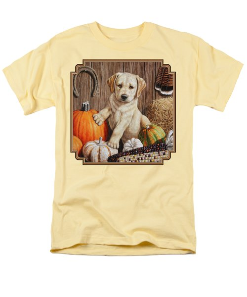 Pumpkin Puppy Men's T-Shirt  (Regular Fit) by Crista Forest
