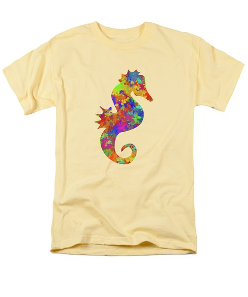 Seahorse Watercolor Art Men's T-Shirt  (Regular Fit) by Christina Rollo