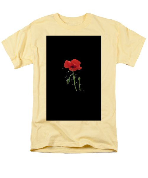 Landscape of dreaming poppies T-Shirt by Valerie Anne Kelly