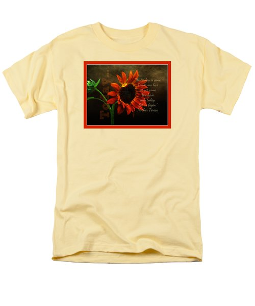 Today - Quote Men's T-Shirt  (Regular Fit) by Anita Faye