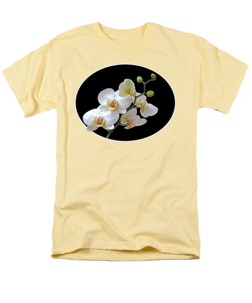 Orchids On Black And Gold Men's T-Shirt  (Regular Fit) by Gill Billington