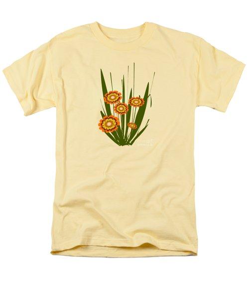 Orange Flowers Men's T-Shirt  (Regular Fit) by Anastasiya Malakhova