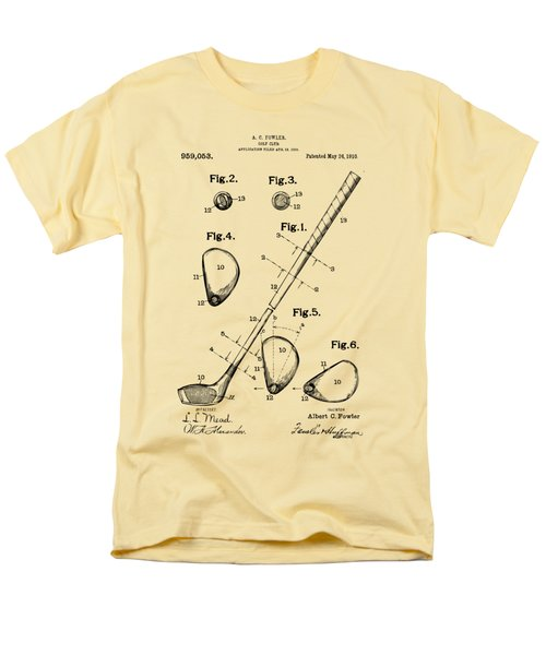Vintage 1910 Golf Club Patent Artwork Men's T-Shirt  (Regular Fit) by Nikki Marie Smith