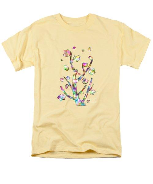 Rainbow Tree Men's T-Shirt  (Regular Fit) by Anastasiya Malakhova