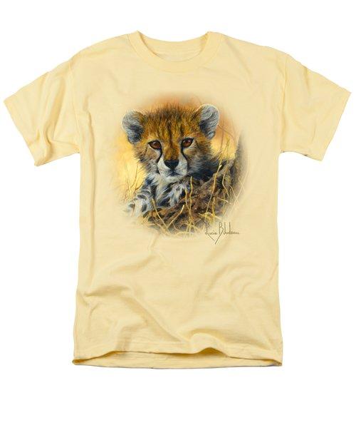 Baby Cheetah  Men's T-Shirt  (Regular Fit) by Lucie Bilodeau