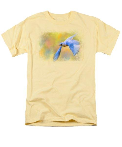 Bluebird Spring Flight Men's T-Shirt  (Regular Fit) by Jai Johnson