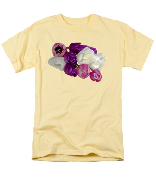 Cascading Tulips Men's T-Shirt  (Regular Fit) by Phyllis Denton