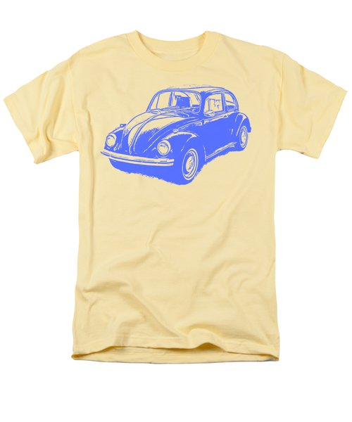 Classic Vw Beetle Tee Blue Ink Men's T-Shirt  (Regular Fit) by Edward Fielding