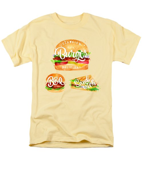 Color Burger Men's T-Shirt  (Regular Fit) by Aloke Design