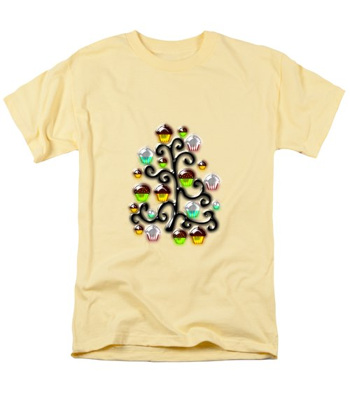 Cupcake Glass Tree Men's T-Shirt  (Regular Fit) by Anastasiya Malakhova