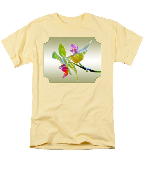 Dragon Glow Orchid Men's T-Shirt  (Regular Fit) by Gill Billington
