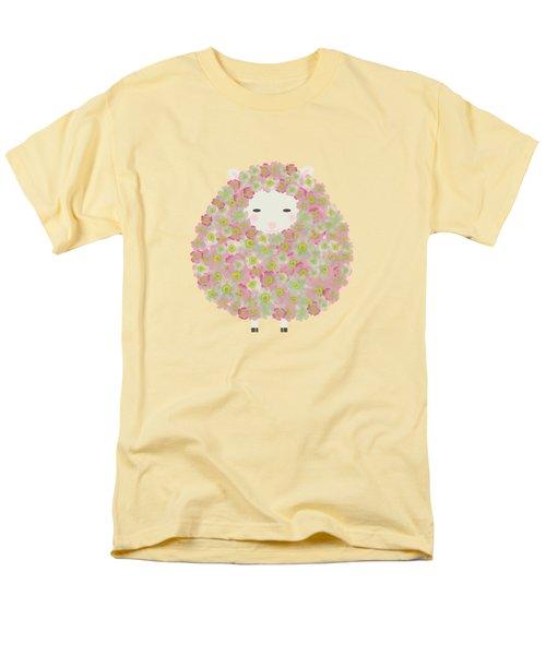 Flowery Sheep Men's T-Shirt  (Regular Fit) by Brigitte Carre