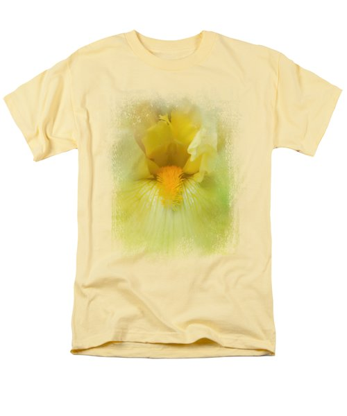 Iris In Lime Men's T-Shirt  (Regular Fit) by Jai Johnson