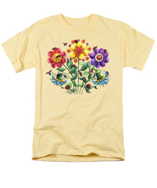 Ladybug Playground Men's T-Shirt  (Regular Fit) by Shelley Wallace Ylst