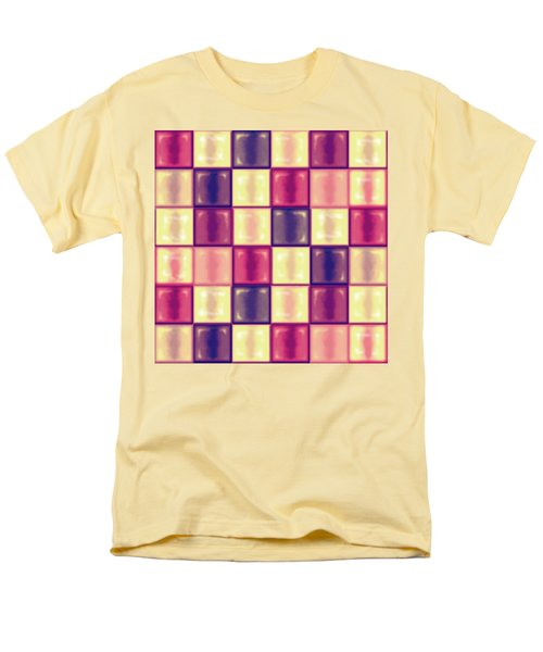 Marsala Ceramic Tiles - Square Men's T-Shirt  (Regular Fit) by Shelly Weingart