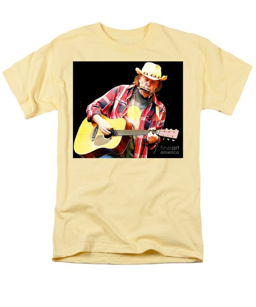 Neil Young Men's T-Shirt  (Regular Fit) by John Malone