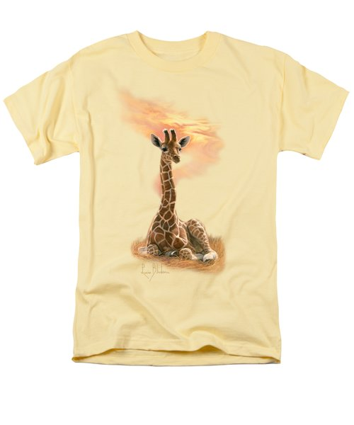 Newborn Giraffe Men's T-Shirt  (Regular Fit) by Lucie Bilodeau