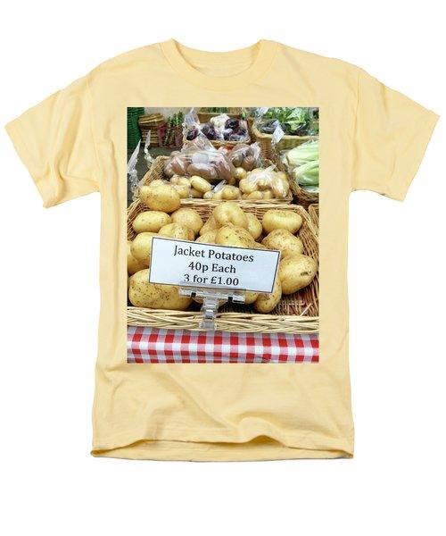 Potatoes At The Market  Men's T-Shirt  (Regular Fit) by Tom Gowanlock