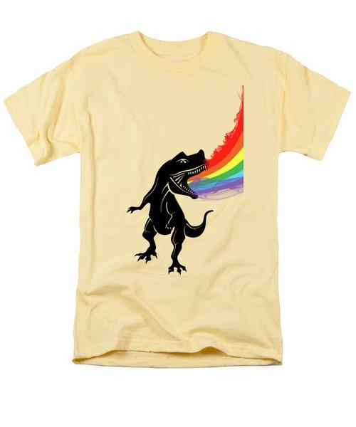 Rainbow Dinosaur Men's T-Shirt  (Regular Fit) by Mark Ashkenazi