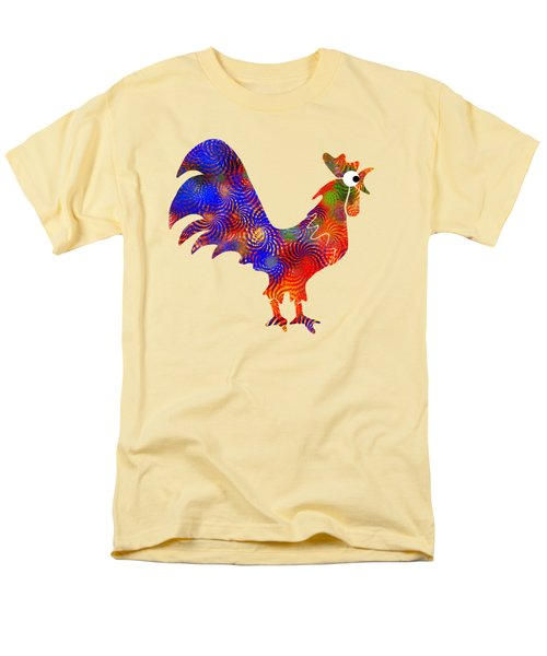 Red Rooster Art T-Shirt by Christina Rollo
