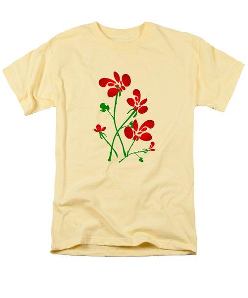 Rooster Flowers Men's T-Shirt  (Regular Fit) by Anastasiya Malakhova