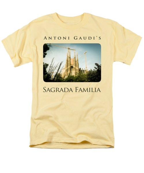 Sagrada Familia With Catalonia's Flag Men's T-Shirt  (Regular Fit) by Alejandro Ascanio