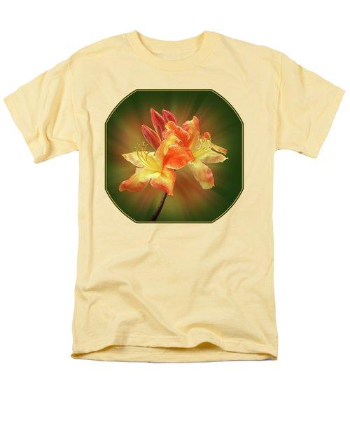 Sunburst Orange Azalea Men's T-Shirt  (Regular Fit) by Gill Billington