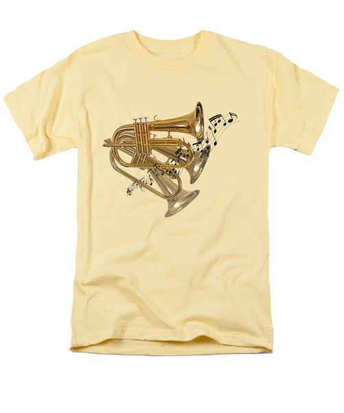 Trumpet Fanfare Men's T-Shirt  (Regular Fit) by Gill Billington