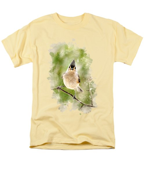Tufted Titmouse - Watercolor Art Men's T-Shirt  (Regular Fit) by Christina Rollo