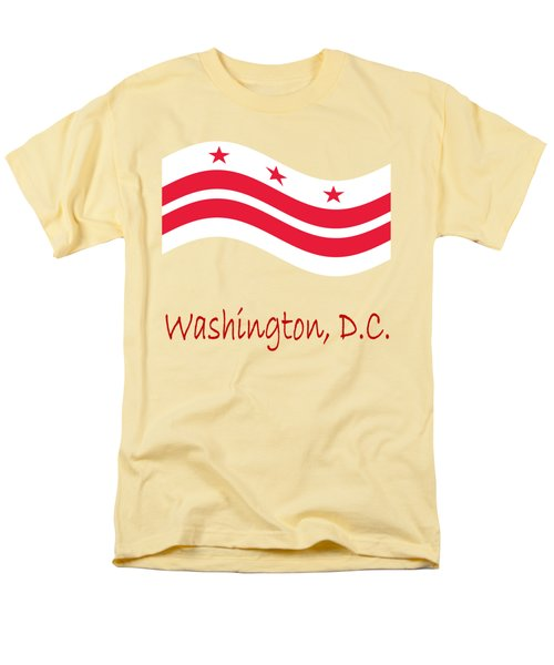 Waving District Of Columbia Flag And Name Men's T-Shirt  (Regular Fit) by Frederick Holiday