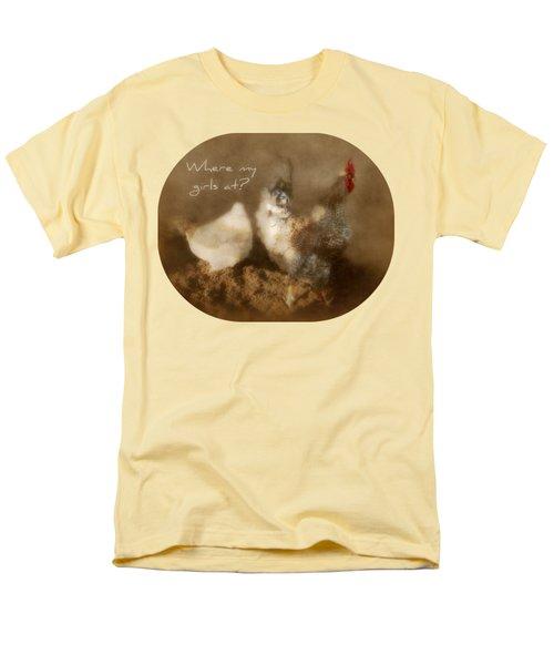 Where My Girls At Men's T-Shirt  (Regular Fit) by Anita Faye
