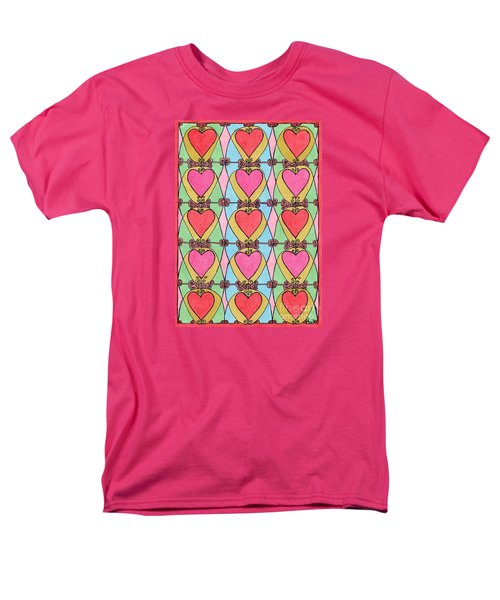 Hearts a'la Stained Glass T-Shirt by Mag Pringle Gire