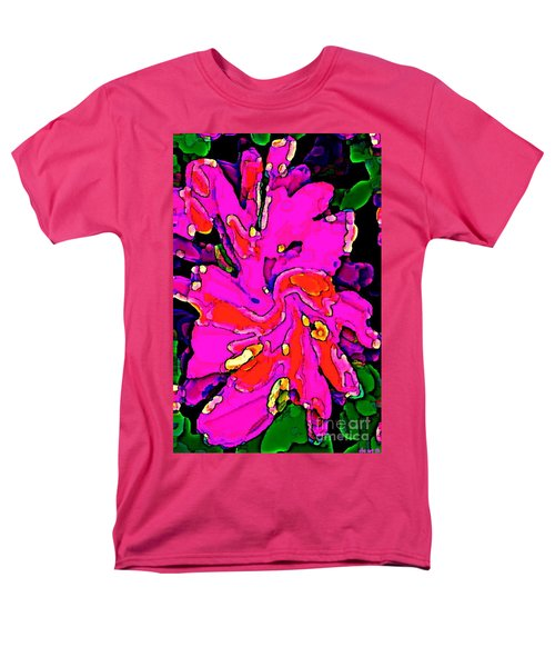 IPHONE CASES COLORFUL FLOWERS LARGE PINK ROSES CARNATIONS ABSTRACT FLORALS CAROLE SPANDAU CBS ART185 T-Shirt by CAROLE SPANDAU