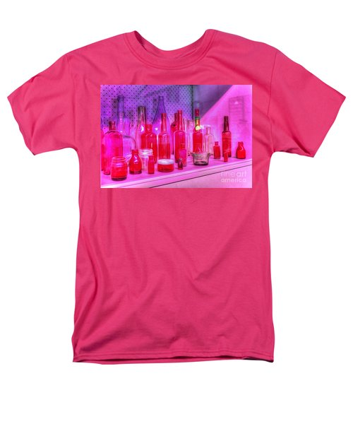 Pink and Red Bottles T-Shirt by Kaye Menner