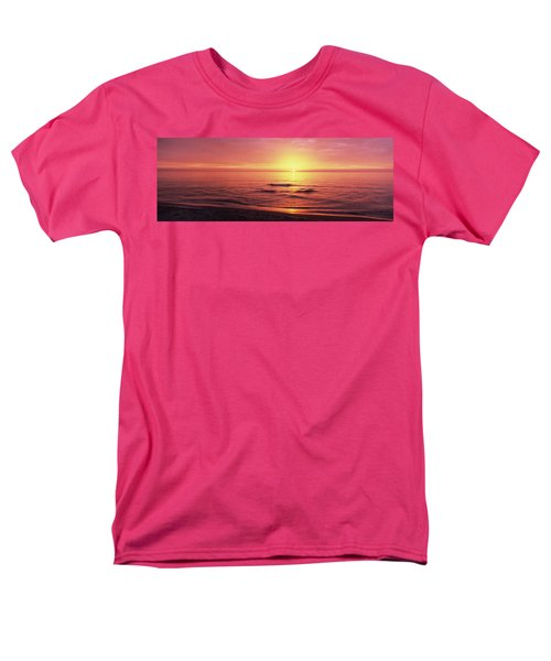 Sunset Over The Sea, Venice Beach Men's T-Shirt  (Regular Fit) by Panoramic Images