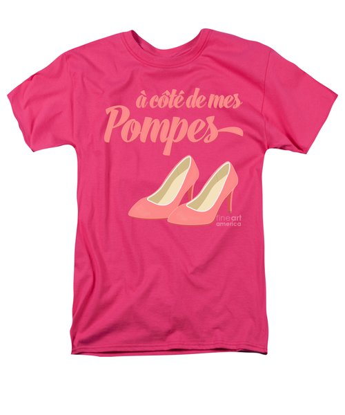 Pink High Heels French Saying Men's T-Shirt  (Regular Fit) by Antique Images