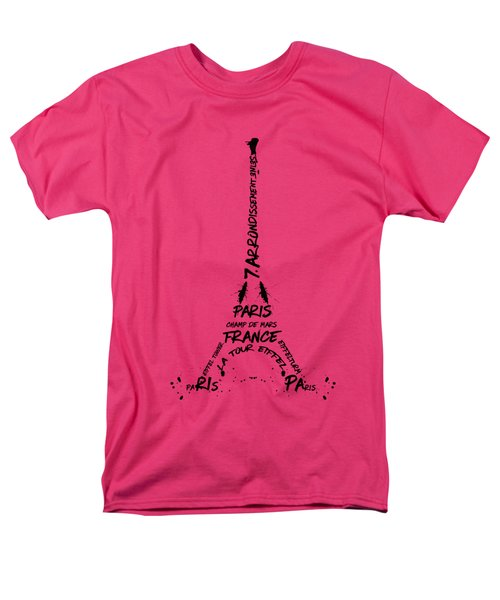 Digital-art Eiffel Tower Men's T-Shirt  (Regular Fit) by Melanie Viola