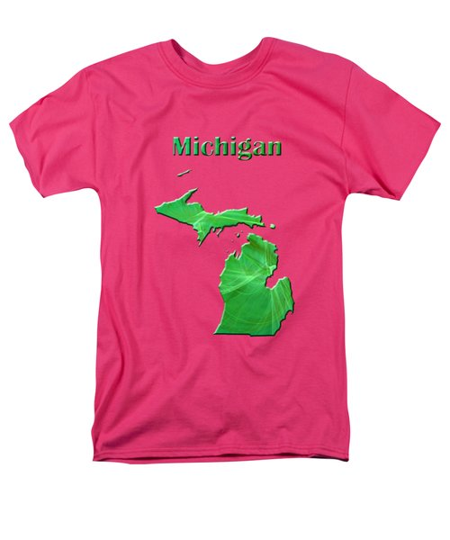 Michigan Map Men's T-Shirt  (Regular Fit) by Roger Wedegis