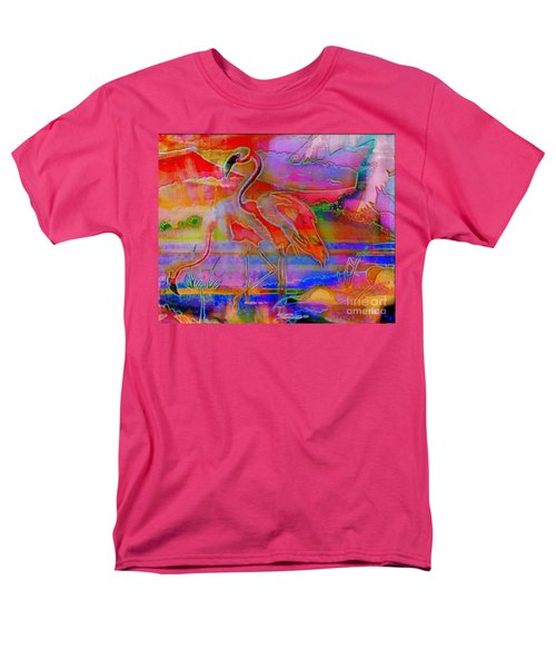 Pink Flamingos T-Shirt by WBK