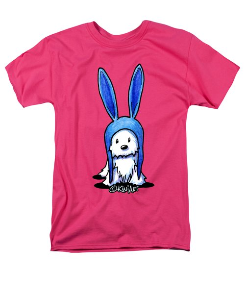 Rabbit Ears Westie Men's T-Shirt  (Regular Fit) by Kim Niles
