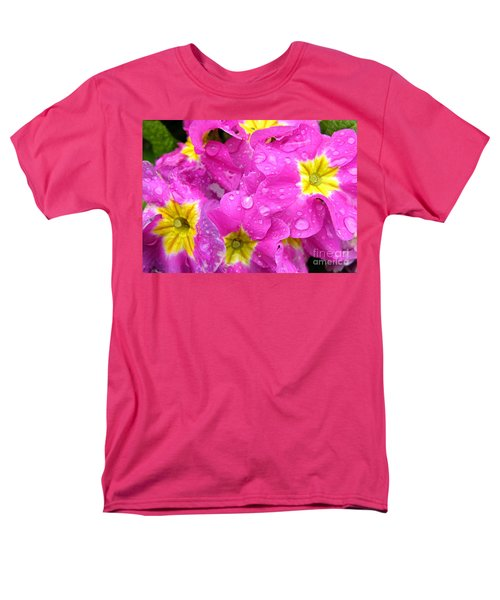 Raindrops on Pink Flowers 2 T-Shirt by Carol Groenen