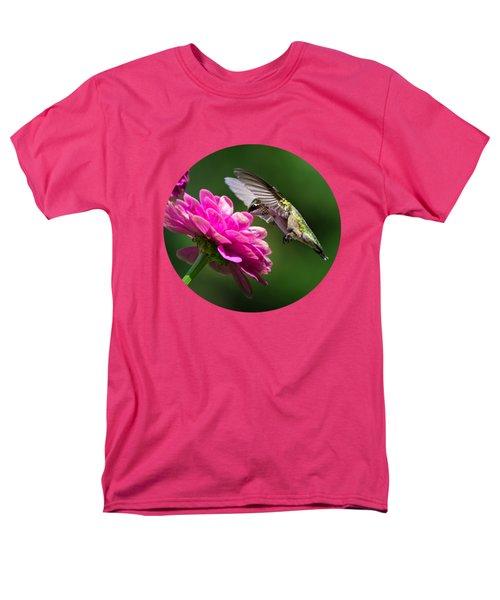 Simple Pleasure Hummingbird Delight Men's T-Shirt  (Regular Fit) by Christina Rollo