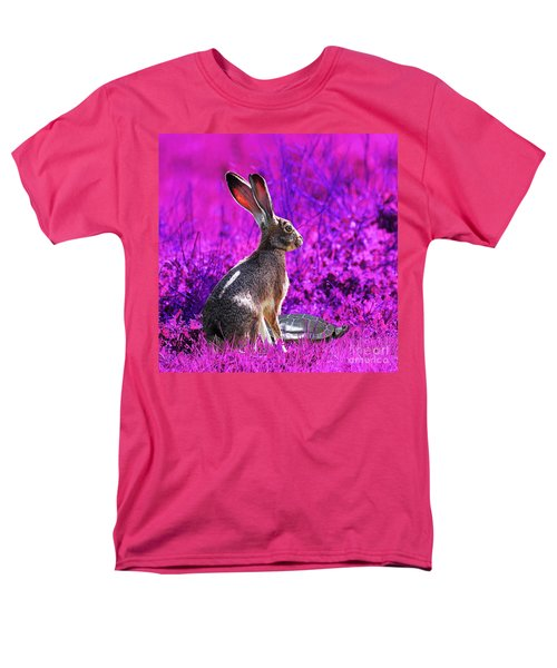 The Tortoise and the Hare . Magenta Square T-Shirt by Wingsdomain Art and Photography