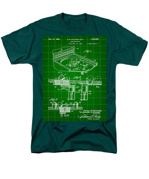 Pinball Machine Patent 1939 - Green Men's T-Shirt  (Regular Fit) by Stephen Younts