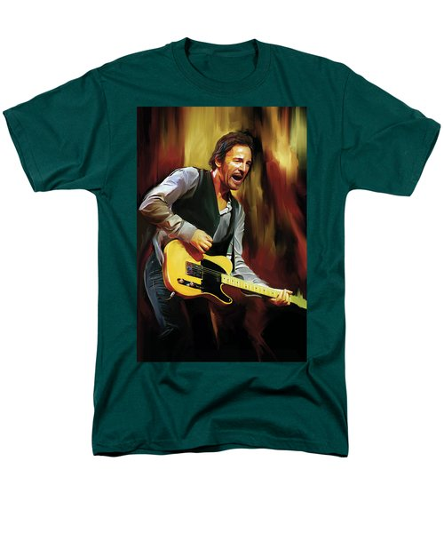 Bruce Springsteen Artwork Men's T-Shirt  (Regular Fit) by Sheraz A